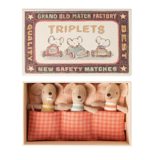 메일레그 MAILEG 애착인형 / BABY MICE, TRIPLETS IN MATCHBOX