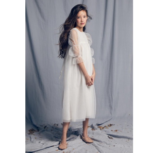 Nellystella SS20 / 넬리스텔라 드레스 Isabella Dress (Bright White)